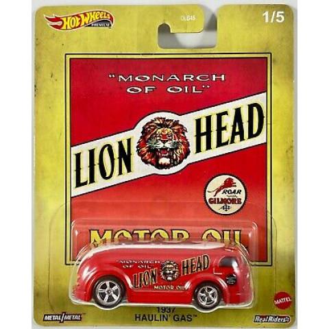 Hot Wheels - 1937 Haulin Gas Vermelho - Lion Head - Fuel