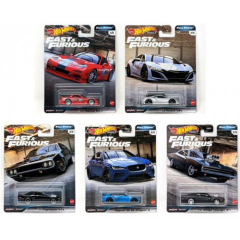 Hot Wheels - Set Full Force 2020 Completo 5 Miniaturas - Fast and Furious - Velozes e Furiosos