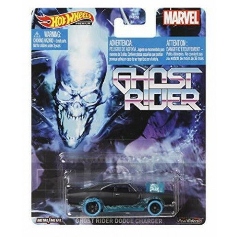 Hot Wheels - Ghost Rider Dodge Charger Preto - Ghost Rider