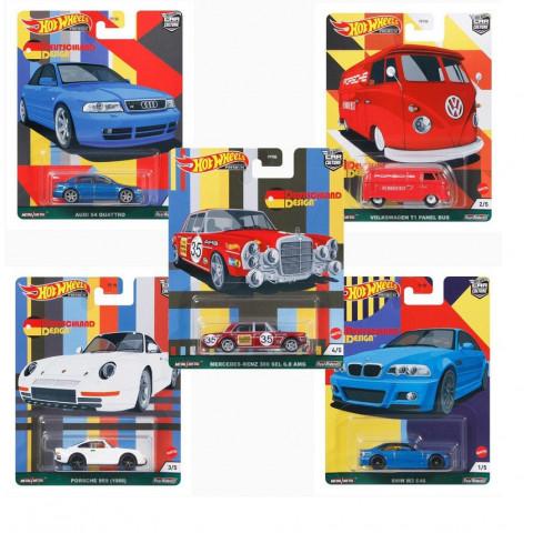 Hot Wheels - Set Completo  Deutschland Design - Com 5 Miniaturas - Car Culture