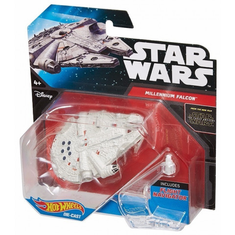 Hot Wheels - Millennium Falcon Branco - Starship - Star Wars