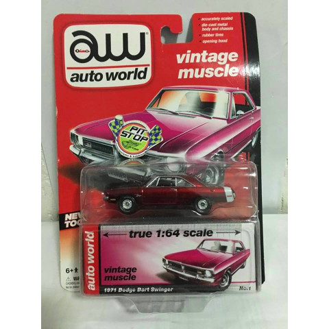 Ultra Red - Auto World - 1971 Dodge Dart Swinger - Vintage Muscle - Chase