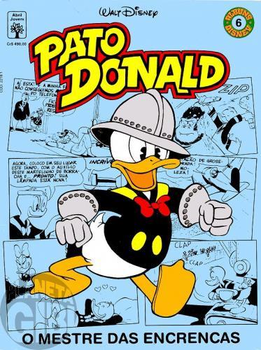 Álbuns Disney nº 006 abr/1991 - Pato Donald - O Mestre das Encrencas