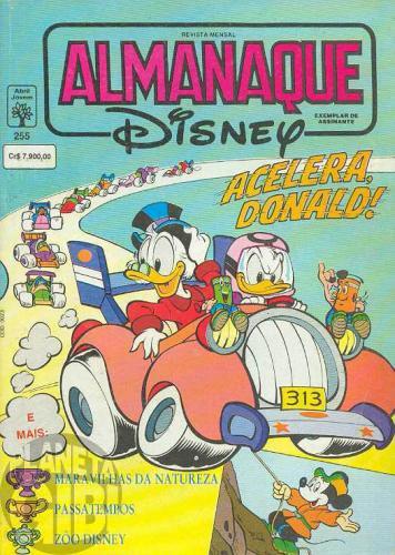 Almanaque Disney nº 255 ago/1992