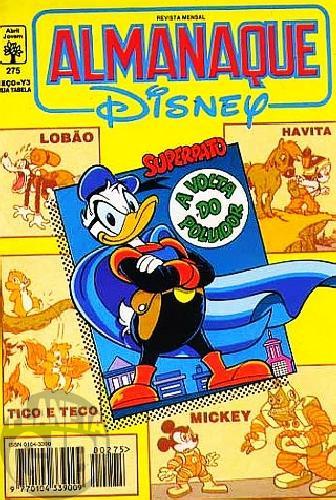 Almanaque Disney nº 275 jun/1994 - Superpato: A Volta do Poluidor