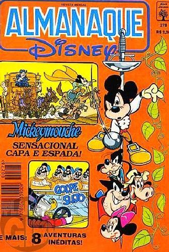 Almanaque Disney nº 278 set/1994 - Mickeymouche História de Amor e Espada