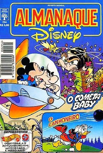Almanaque Disney nº 294 jan/1996 - O Cometa Baby