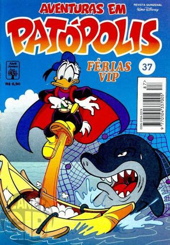Aventuras em Patópolis nº 037 ago/1995 - Superpato: Férias VIP - Vide detalhes