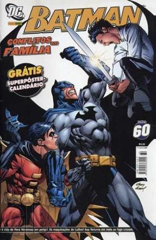 Batman [Panini - 1ª série] nº 060 nov/2007 - com brinde original Pôster
