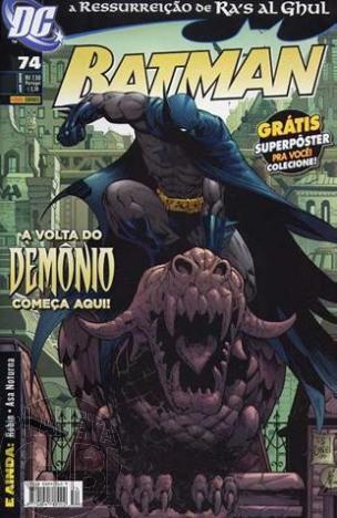 Batman [Panini - 1ª série] nº 074 jan/2009 - com brinde original Pôster