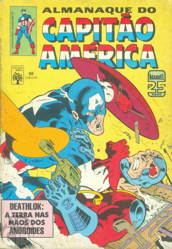 Capitão América [Abril - 1ª série] nº 088 set/1986 - Almanaque do Capitão América