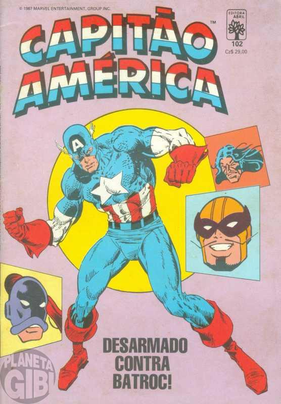 Capitão América [Abril - 1ª série] nº 102 nov/1987