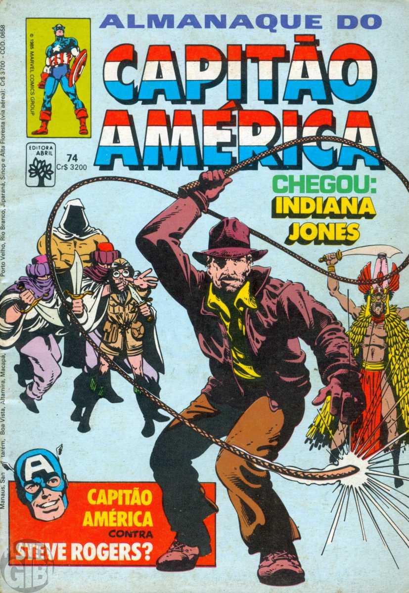Capitão América [Abril - 1ª série] nº 074 jul/1985  Com Dicionário Marvel Apêndice