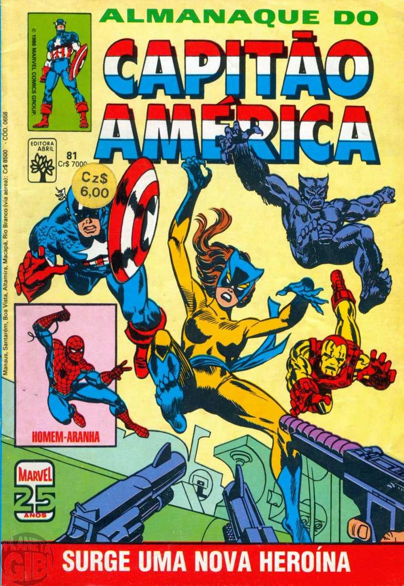 Capitão América [Abril - 1ª série] nº 081 fev/1986