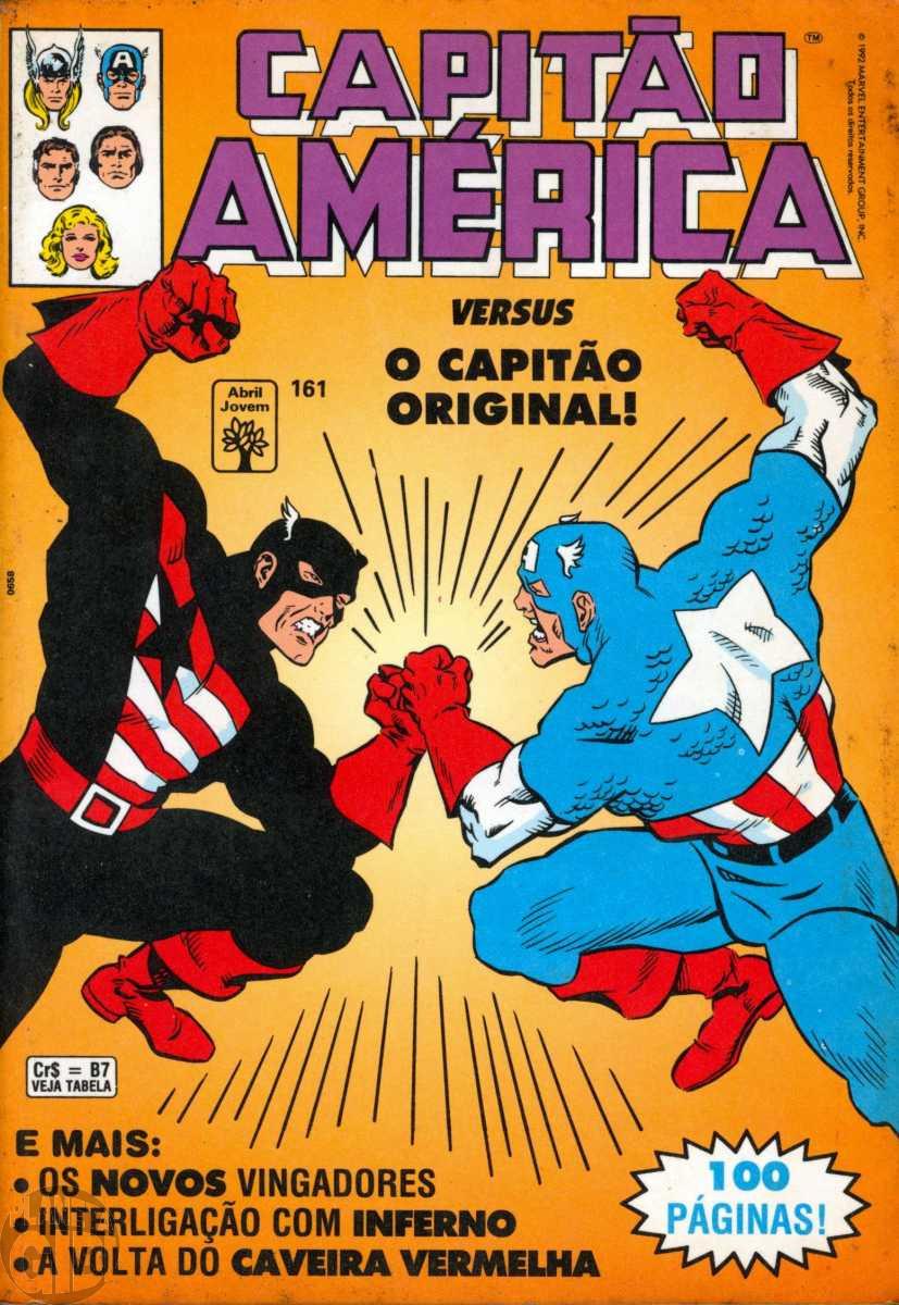 Capitão América [Abril - 1ª série] nº 161 out/1992 - Versus o Capitão Original - Vide Detalhes