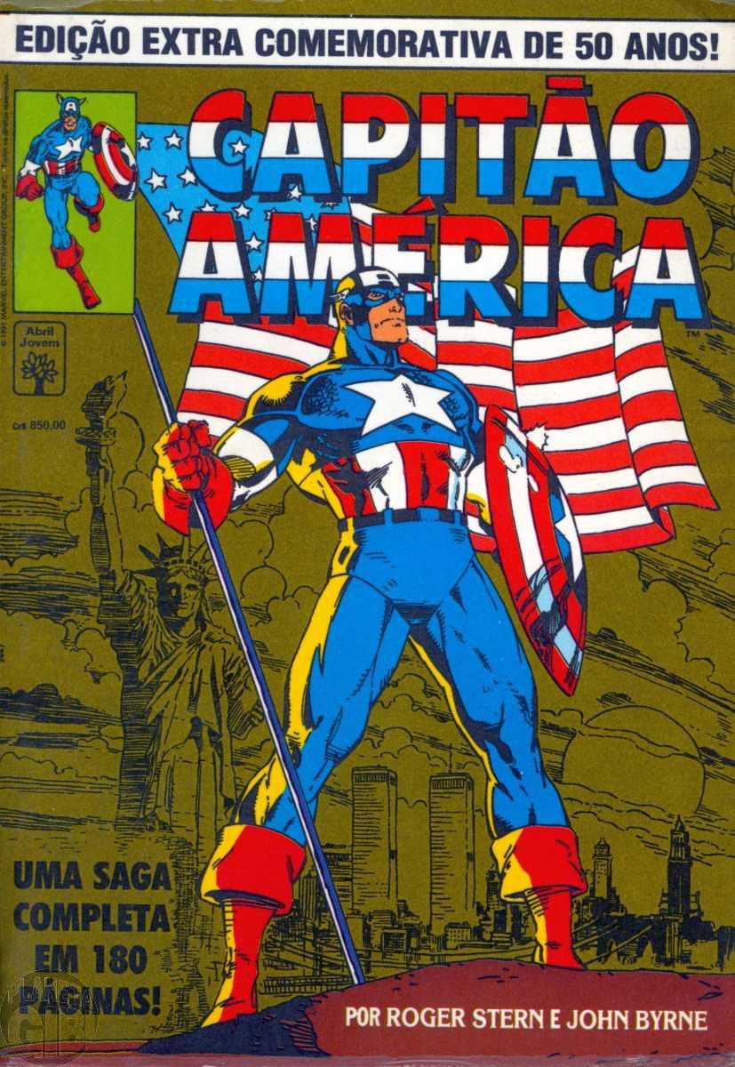 Capitão América Edição Extra Comemorativa de 50 Anos [Abril] ago/1991