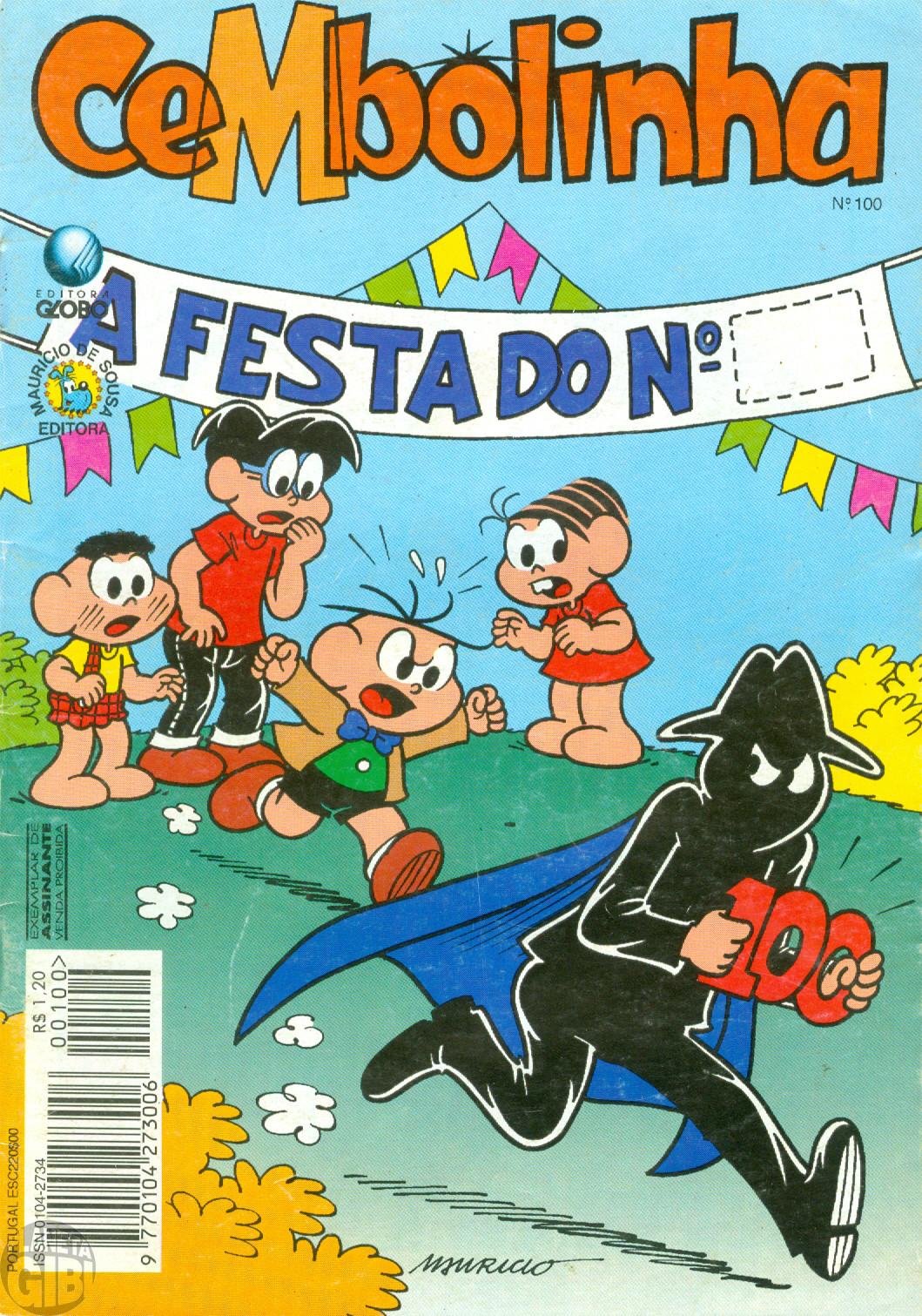 Cebolinha [2ª série - Globo] nº 100 abr/1995 - Comemorativo!
