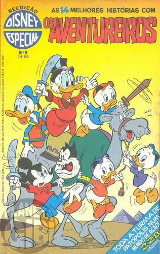 Disney Especial Reedição nº 006 ago/1981 - Os Aventureiros - Nas Selvas do Alto Amazonas (Amazônia) - Vide Detalhes