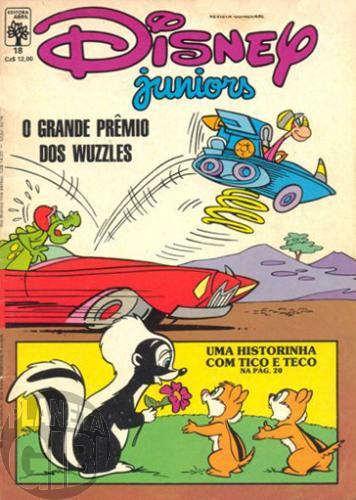 Disney Juniors nº 018 jul/1987 - O Grande Prêmio dos Wuzzles