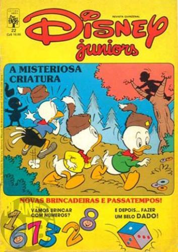 Disney Juniors nº 022 set/1987 - A Misteriosa Criatura