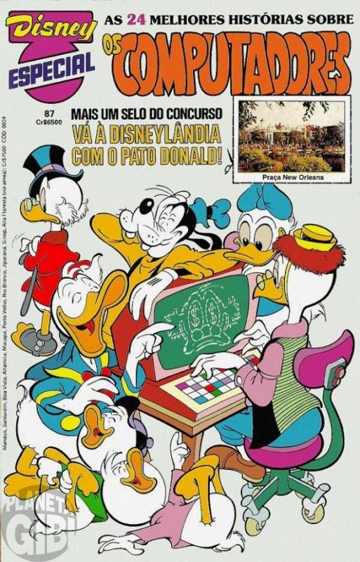 Disney Especial nº 087 set/1985 - Os Computadores - Vide detalhes