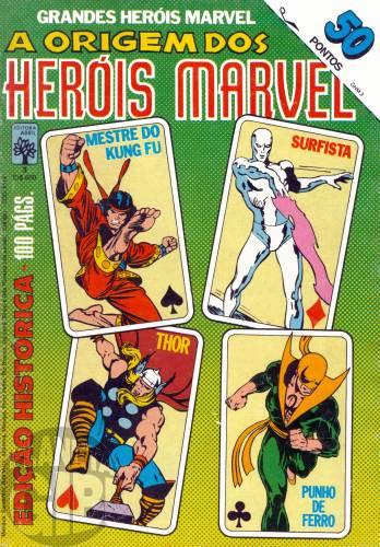 Grandes Heróis Marvel [Abril - 1ª série] nº 003 fev/1984 - A Origem dos Heróis Marvel