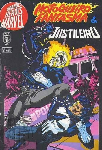 Grandes Heróis Marvel [Abril - 1s] nº 040 jun/1993 - Motoqueiro Fantasma & Justiceiro