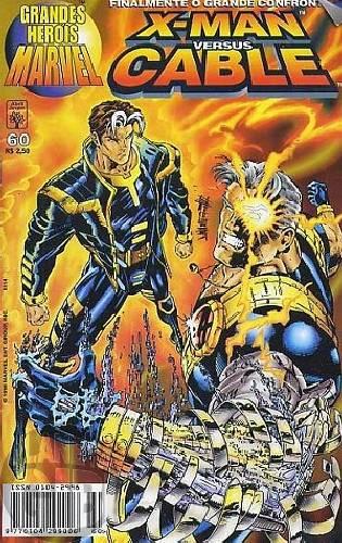 Grandes Heróis Marvel [Abril - 1s] nº 060 jun/1998 - X-Man Versus Cable