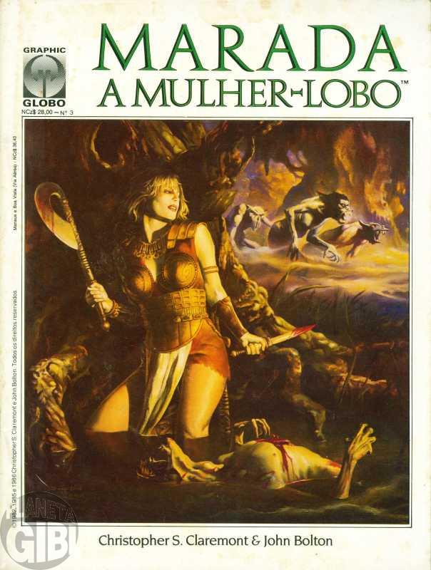 Graphic Globo nº 003 dez/1989 - Marada A Mulher Lobo