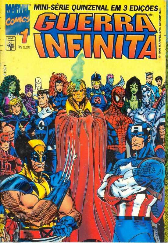 Guerra Infinita [Abril - Minissérie] nº 001 a 003 jan-fev/1996 - Completa