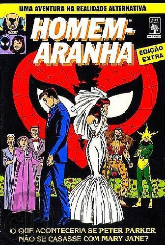 Homem-Aranha Edição Extra [Abril]  nov/1991 - O que Aconteceria se Peter Parker Não se Casasse com Mary Jane?
