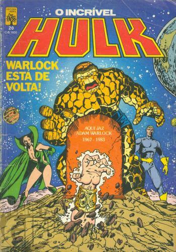 Incrível Hulk [Abril - 1ª série] nº 020 fev/1985 - Página T do Dicionário - Leia detalhes