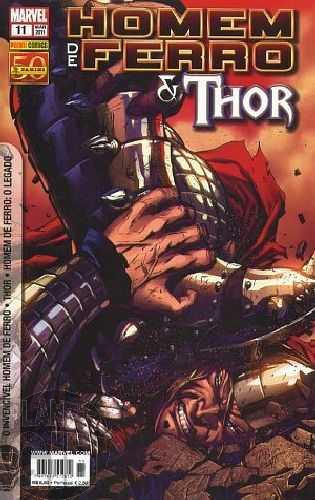 Invencível Homem de Ferro [Panini - 1ª série] nº 011 mar/2011 - Homem de Ferro e Thor