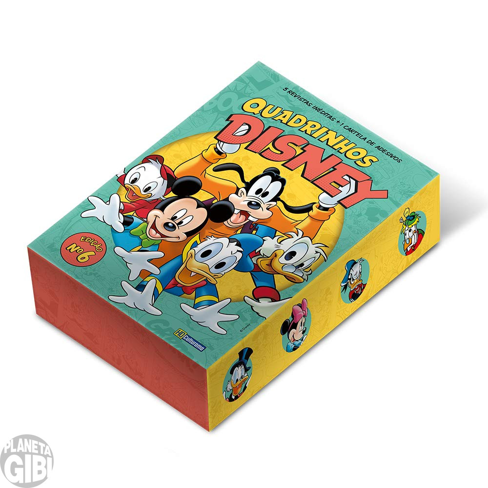 Kit Disney Culturama 006 set/2019 As 5 Mensais + Caixa + Adesivos