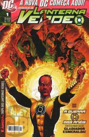 Lanterna Verde [Panini - 1ª série] nº 001 set/2008 - Dimensão DC