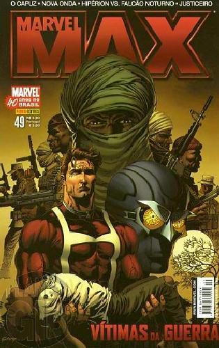 Marvel Max [Panini 1ª série] nº 049 set/2007 Justiceiro, Hipérion Falcão Noturno, O Capuz, Nova Onda