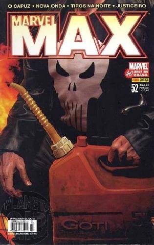 Marvel Max [Panini 1ª série] nº 052 dez/2007 Justiceiro, Tiros na Noite, O Capuz, Nova Onda