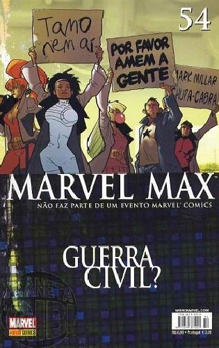 Marvel Max [Panini 1ª série] nº 054 fev/2008 Justiceiro, Tiros na Noite, Wisdom, Nova Onda