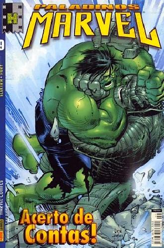 Paladinos Marvel [Panini] nº 009 set/2002 - Elektra | Nick Fury | Hulk