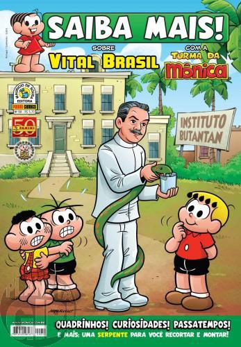 Saiba Mais! Turma da Mônica [Panini - 1s] nº 050 out/2011 - Vital Brasil