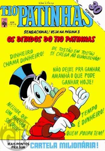 Tio Patinhas nº 224 jan/1984 - Vide detalhes