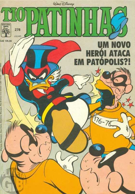 Tio Patinhas nº 278 jul/1988 O Cartola Mascarado - Estreia