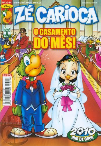 Zé Carioca nº 2344 fev/2010 - O Casamento do Mês
