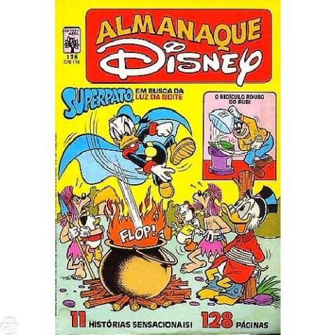 Almanaque Disney nº 128 jan/1982 - Superpato - Vide Detalhes