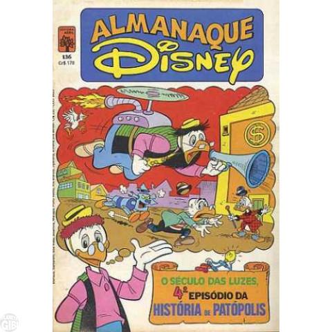 Almanaque Disney nº 136 set/1982 - A História de Patópolis