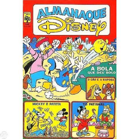 Almanaque Disney nº 138 nov/1982