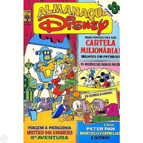 Almanaque Disney nº 150 nov/1983 - Com selo na capa e cartela