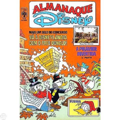 Almanaque Disney nº 173 out/1985 - A Pirâmide Invertida - Vide detalhes