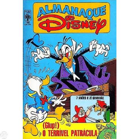 Almanaque Disney nº 182 jul/1986 - Biquinho - Mancha Negra