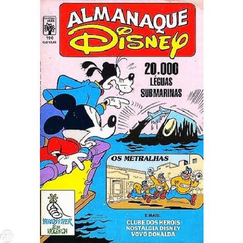 Almanaque Disney nº 190 mar/1987 - Pateta Faz História: 20.000 Léguas Submarinas - Vide Detalhes